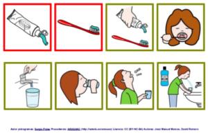 autismo lavarse dientes autonomía